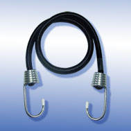 Expander schwarz, mit Metallhaken verzinkt Tensioning Belt black, with Spin Hook