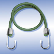 Expander olivgrün, mit Metallhaken verzinkt Tensioning Belt olive-green, with Spin Hook