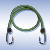 Expander olivgrün, mit Metallhaken schwarz Tensioning Belt olive-green, with Spin Hook