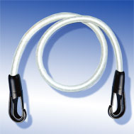 Expander weiss, mit Kunststoffhaken Tensioning Belt white, with Snap-Hook