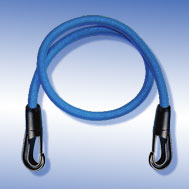 Expander blau mit Kunststoff-Haken Tensioning Belt white, with Snap-Hook