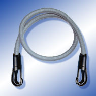 Expander grau mit Kunststoff-Haken Tensioning Belt grey, with Snap Hook