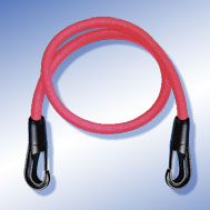 Expander rot mit Kunststoff-Haken Tensioning Belt red, with Snap Hook