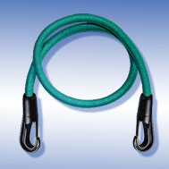 Expander grün mit Kunststoff-Haken Tensioning Belt green, with Snap Hook