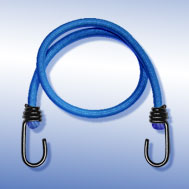 Expander blau, mit Metallhaken schwarz Tensioning Belt blue, with Spin Hook
