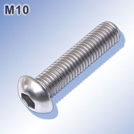 Linsenkopfschrauben M10 mit Innensechskant Hexagon socket button head screws
