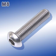 Linsenkopfschrauben M8 mit Innensechskant Hexagon socket button head screws