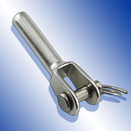 Mini-Gabelterminal mit Innengewinde links Jaw with internal thread left, stainless steel AISI 316