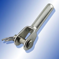 Mini-Gabelterminal mit Innengewinde rechts Jaw with internal thread right, stainless steel AISI 316