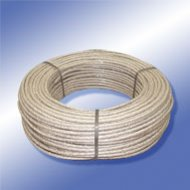 Planenseile Sisal transluzent PVC Cable with inside sisal wire transparent