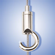 Drahtseilhalter mit Haken Wire rope holder with hook