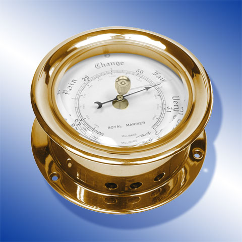 Barometer, Messing, blank, lackiert Barometer, brass, polished, lacguered